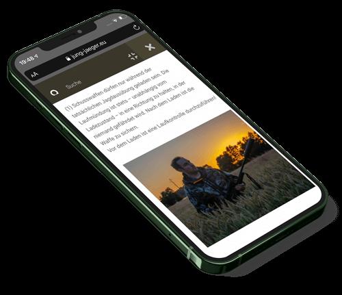 Iphone online Kurs zum Jagdschein grün