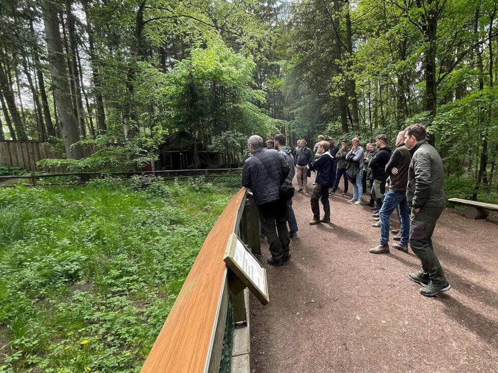 Gruppe des Jagdschein online Kurs im Wildpark